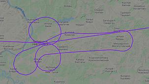 Pilotların çizdiği müstehcen rota ülkeyikarıştırdı