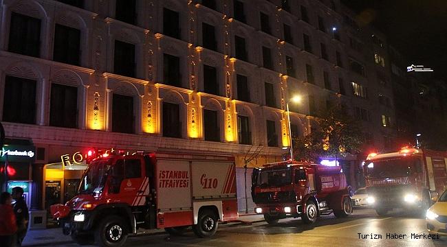 Şişli'de otel olan eski adliye binasında yangın!