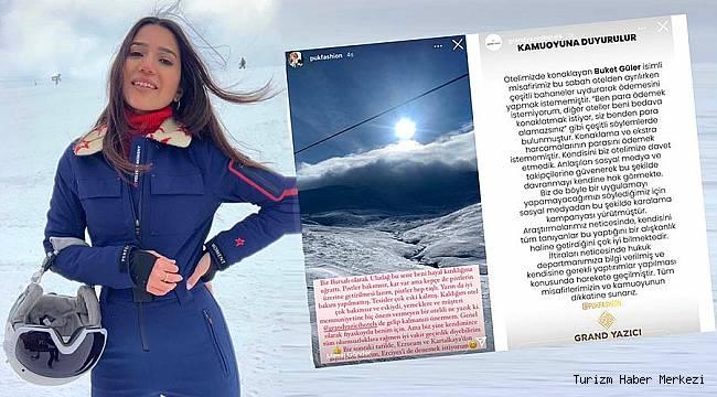 Sosyal medya fenomeni ve Uludağ Grand Yazıcı Otel arasında ödeme kavgası!