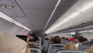 Trump fanatiklerini taşıyan uçakta şok anons!