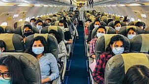 Uçakta maske takmayan yolcuya 25 bin Euro ceza!