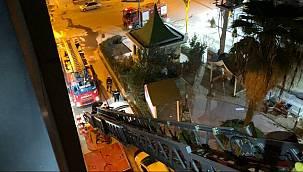 Otel yangınında 5'inci kattan atladı!