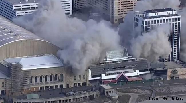 Trump Plaza Otel ve Casino saniyeler içinde yıkıldı!