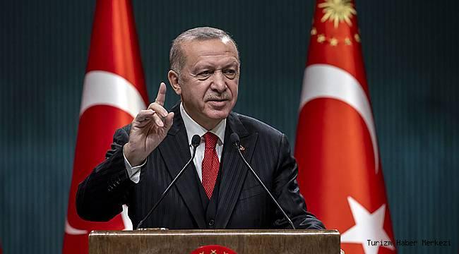 Cumhurbaşkanı Erdoğan'dan turizm ve kısıtlama açıklaması!