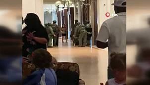 Lüks otelde silahlı saldırı! Odasına barikat kurup etrafa ateş açtı