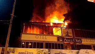 Edremit'te otel yangını!