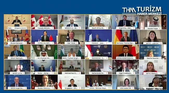 G20 ülkeleri turizmin geleceği için 7 ilke belirledi