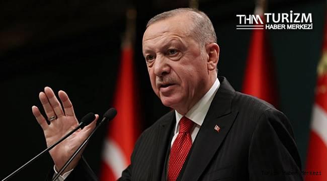 Cumhurbaşkanı Erdoğan'dan turizm ve kısıtlamalar ile ilgili açıklama!