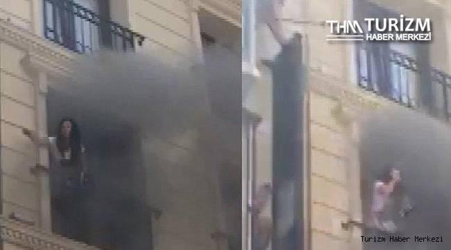 Fatih'teki otelde yangın! Can pazarı yaşandı
