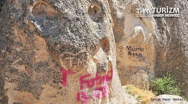 Kapadokya'da tepki çeken görüntü!