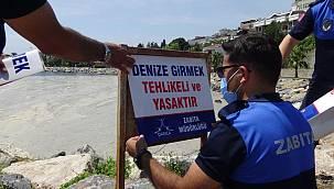 Mavi bayraklı plajlarda 'Denize Girmeyin' uyarısı!