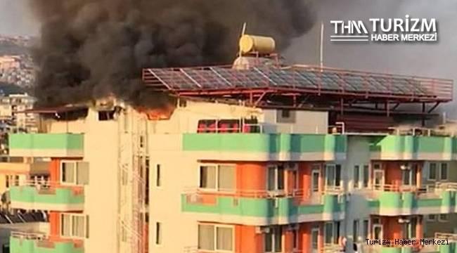 Alanya'daki otelde yangın!