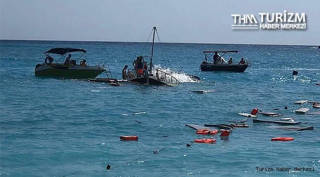 Fethiye'de feci kaza! Tur teknesi battı