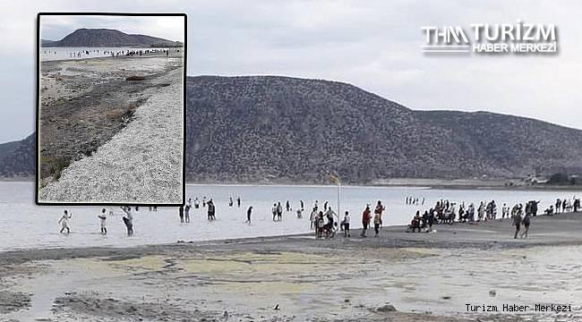 İşte turist akınına uğrayan Salda Gölü'nün içler acısı hali!