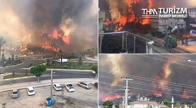 Manavgat'ta tarihin en büyük yangını! Yerleşim yerlerine ulaştı
