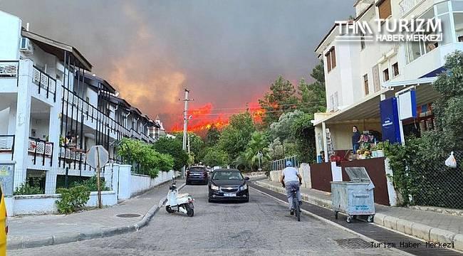Marmaris oteller bölgesinde yangın! Oteller tahliye ediliyor