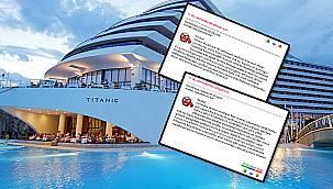 Titanic Beach Lara Resort Otel'in havuzu hastanelik etti!