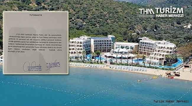 Paloma Pasha Hotel'den personelin yemekten zehirlenmesiyle ilgili açıklama