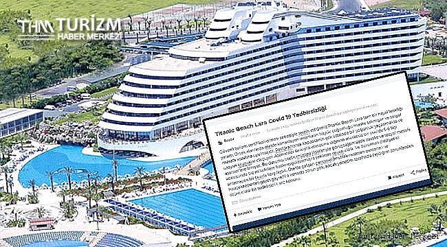 Titanic Beach Lara Resort Otel'de Covid-19 tedbirsizliği