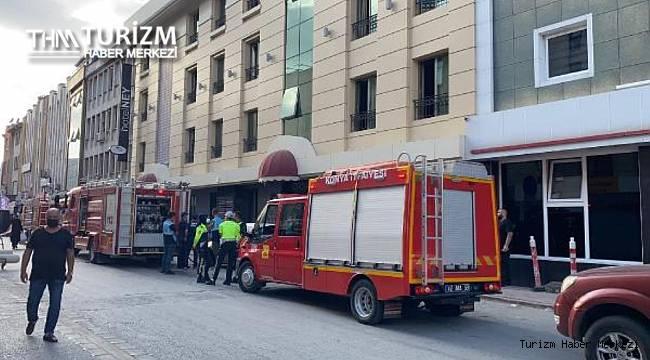 Otel asansöründe yangın! 1 ölü, 1 yaralı