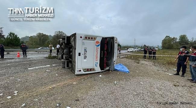 MHP'nin toplantısına giden yolcu otobüsü devrildi! Ölü ve yaralılar var