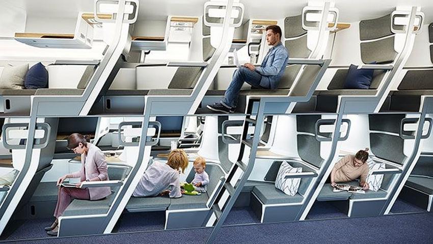 İşte yeni normalde yeni uçak koltukları