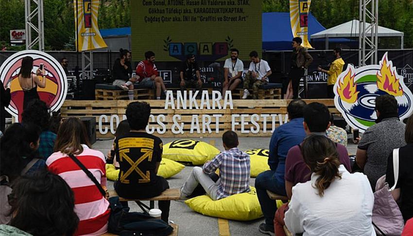 Ankara Comics & Art Festival'e sanatseverlerden yoğun ilgi