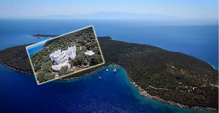 Bodrum'da turistik tesise uygun, ultra lüks villalı satılık ada