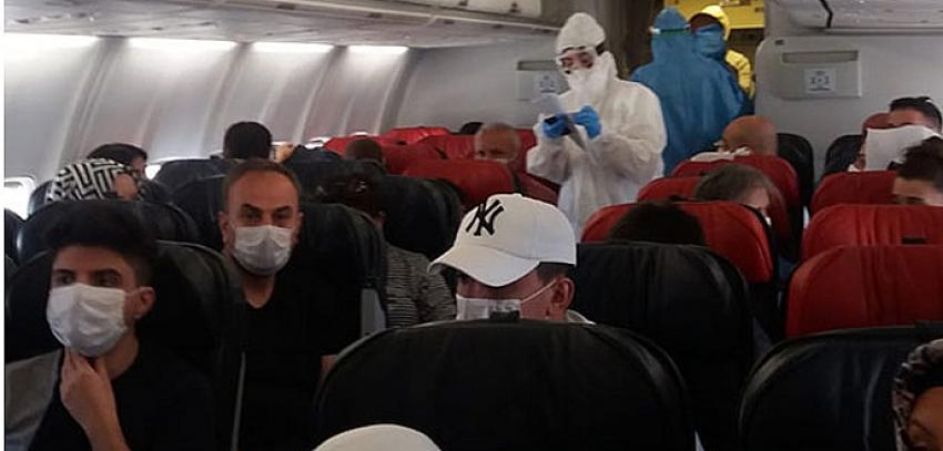 Diyarbakır Ankara uçağında koronavirüs paniği