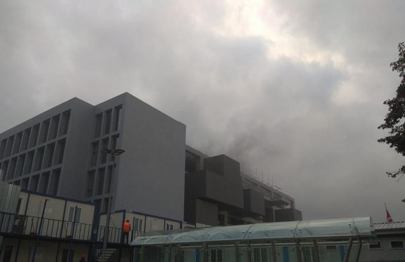 İstanbulʹda müze inşaatında yangın çıktı
