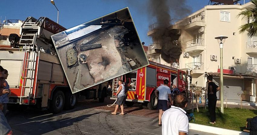 Yer Didim! Otel müşterisi kaldığı odayı ateşe verdi