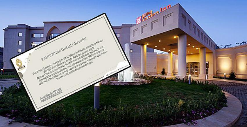 Mardin Hilton Garden Inn Otel'de koronavirüs karantinası! Resmi açıklama geldi