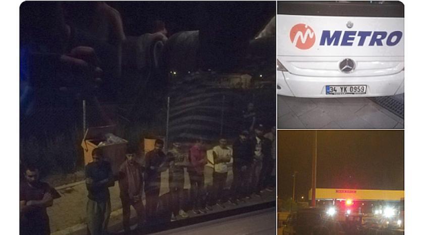 Metro Turizm insan kaçakçılığı yapıyor iddiası! Bagajdan 11 yabancı yolcu çıktı