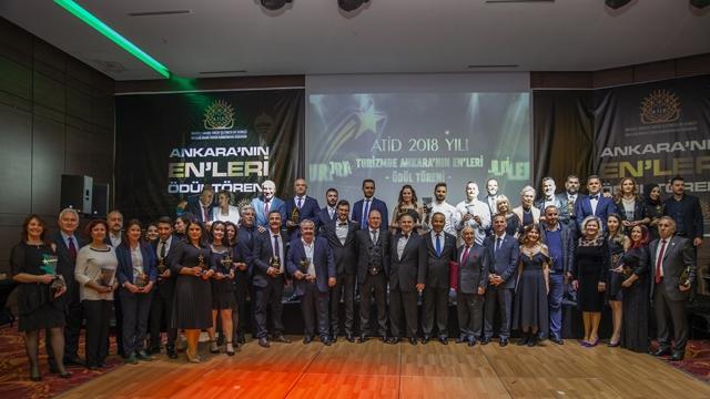 Turizmde Ankara'nın En'leri ödül törenine Turizm Medya Yayın Grubu damga vurdu